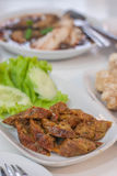 Thai food. A dazzling display of delicious in Chiang Mai, Thailand stock photography