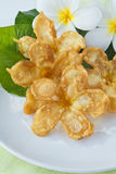 Thai food, Deep fried frowers Stock Photography