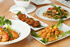 Thai Food Dishes Variety Stock Photo