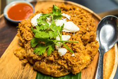 Thai Food: Extra fluffy fried egg with crab meat, Thai style Royalty Free Stock Photography