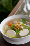 Thai food, famous tofu soup Stock Photos