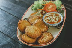 Thai Food Fish Cake stock image