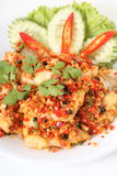 Thai food, fish chili fire Royalty Free Stock Images