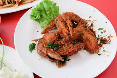 Thai food, fried chicken wings Stock Image