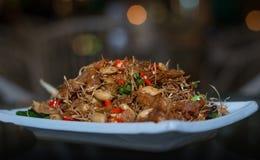 Thai food, fried fish stir with cashew nut in spicies flavor Stock Photos
