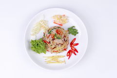 Thai food, Fried jasmine rice with ginger. Stock Photos