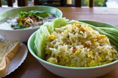 Thai food fried rice Stock Image