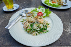 Thai food fried rice on plate Royalty Free Stock Image