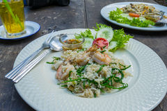 Thai food fried rice on plate Stock Image