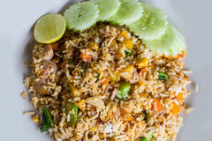 Thai food fried rice with pork Royalty Free Stock Image