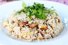 Thai food  fried rice with pork. On the plate Stock Image