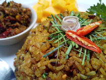 Thai food fried rice with spicies chilli Royalty Free Stock Photography