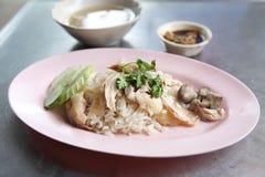 Thai food gourmet steamed chicken Stock Photos
