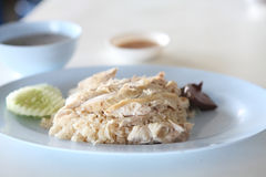 Thai food gourmet steamed chicken with rice Stock Photo