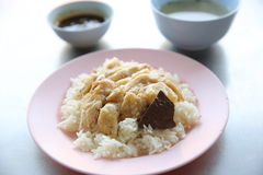 Thai food gourmet steamed chicken with rice Royalty Free Stock Photos