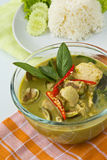 Thai food, Green curry. Thai traditional and popular food, Green curry with chicken and eggplant, (Kaeng  Khiao  Wan  Kai Stock Photography