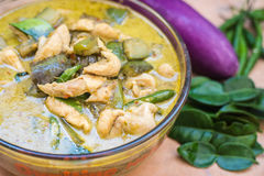 Thai food green curry Royalty Free Stock Photo