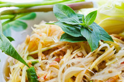 Thai food. And green vegatable Royalty Free Stock Image