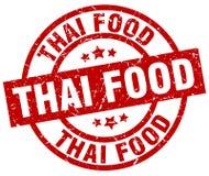 Thai food stamp. Thai food grunge vintage stamp isolated on white background. thai food. sign stock illustration