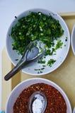 Thai food ingredient for porridge rice gruel Royalty Free Stock Photos