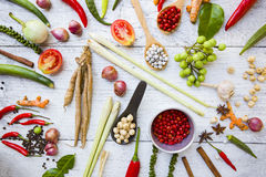 Thai food ingredients Royalty Free Stock Photo