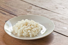 Thai food, jasmine rice cooked on plate Royalty Free Stock Photos