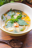 Thai food, Kang liang, Shrimp mushhroom and vegetable Royalty Free Stock Image