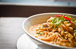 Thai Food - Khao Soi Stock Image
