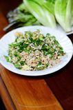 Thai food is made from red ant egg spicy,selective focus at red ant egg spicy with blur foreground and background Royalty Free Stock Photos