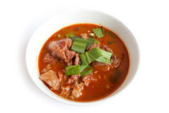 Thai Food meat in red curry paste. Royalty Free Stock Image