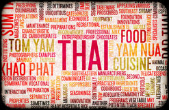 Thai Food Menu Royalty Free Stock Image