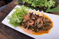 Thai food menu Royalty Free Stock Image