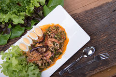 Thai food menu Royalty Free Stock Images