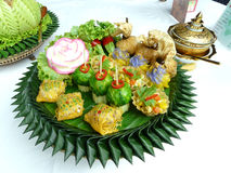 Thai food mix appetizer Royalty Free Stock Images