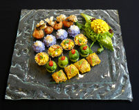 Thai food mix appetizers Royalty Free Stock Photography