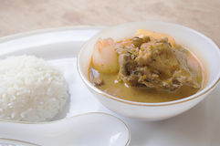 Thai food mussaman curry Stock Photo