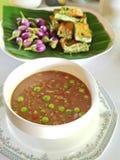 Thai food & x22; Nam Pric Ka Pi& x22; royalty free stock image