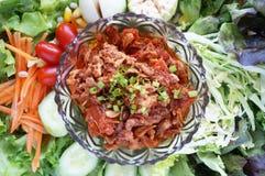 Thai food - Nam Prik Aong Royalty Free Stock Photos