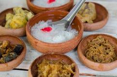 Thai food name Kao-Chae Stock Photo