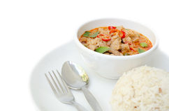 Thai food name Pa Nang Royalty Free Stock Photography