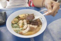 Thai food is name Paste of rice flour royalty free stock photos