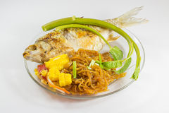 Thai food with noodle Royalty Free Stock Image