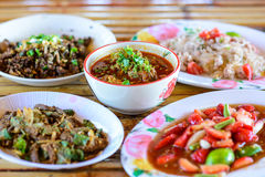 Thai food Northern style set Royalty Free Stock Photography