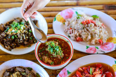 Thai food Northern style set Royalty Free Stock Photo