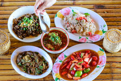 Thai food Northern style set Royalty Free Stock Image