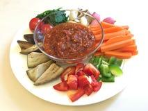 Thai food. Num prik num Royalty Free Stock Image