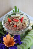Thai food, old type lemongrass and chili relish Stock Photos