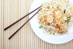 Thai Food Pad Thai Fried Noodle With Shrimp Royalty Free Stock Photography