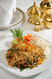 Thai Food Pad Thai Kung Sod Royalty Free Stock Photo