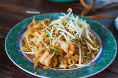 Thai food, Pad thai Shrimp Stock Photos